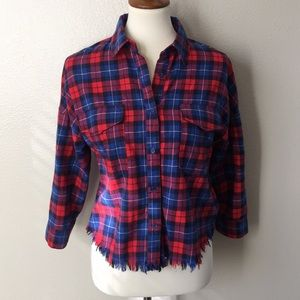 Women's Flying Tomato Flannel Top Size Small